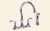 Vessona Two Handle Kitchen Faucet with spray