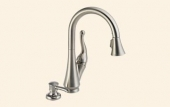 Talbott Single Handle Pull-Down Kitchen Faucet with Soap Dispenser