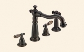 Victorian Two Handle Kitchen Faucet with Spray