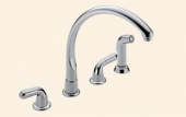 Waterfall Two Handle Kitchen Faucet With Spray
