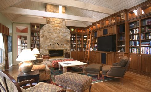 Living Room & Library Wall Units | Kitchen Land | Custom Kitchen ...