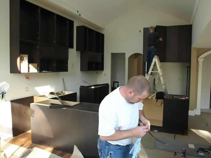Installation of new kitchen countertop