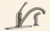 Classic Single Handle Kitchen Faucet with Spray