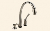 Pilar Single Handle Pull-Down Kitchen Faucet with Touch2O Technology® and Soap Dispenser