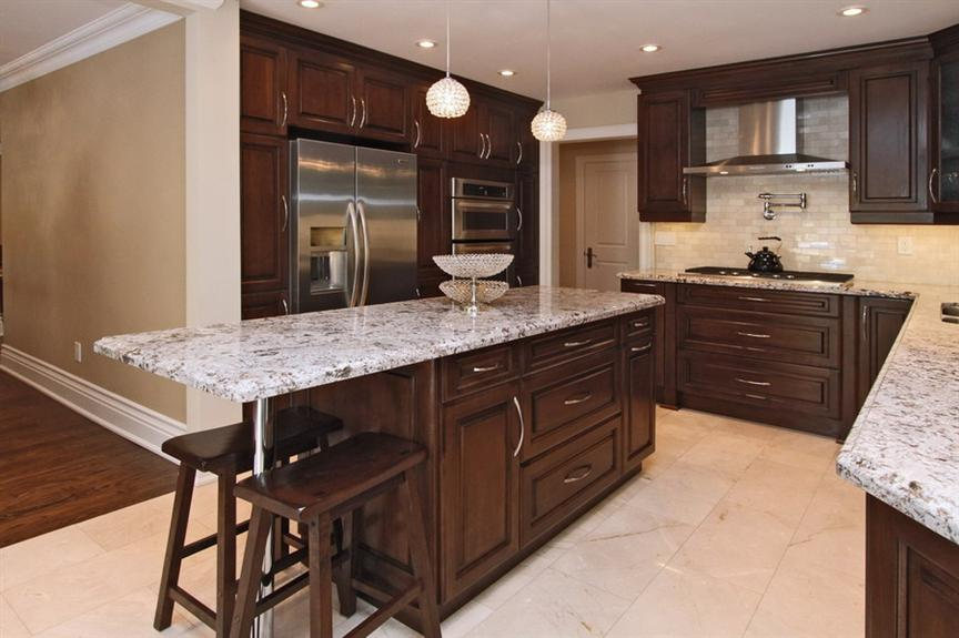 classic kitchen designs mississauga traditional kitchen design in solid maple chestnut colour 482