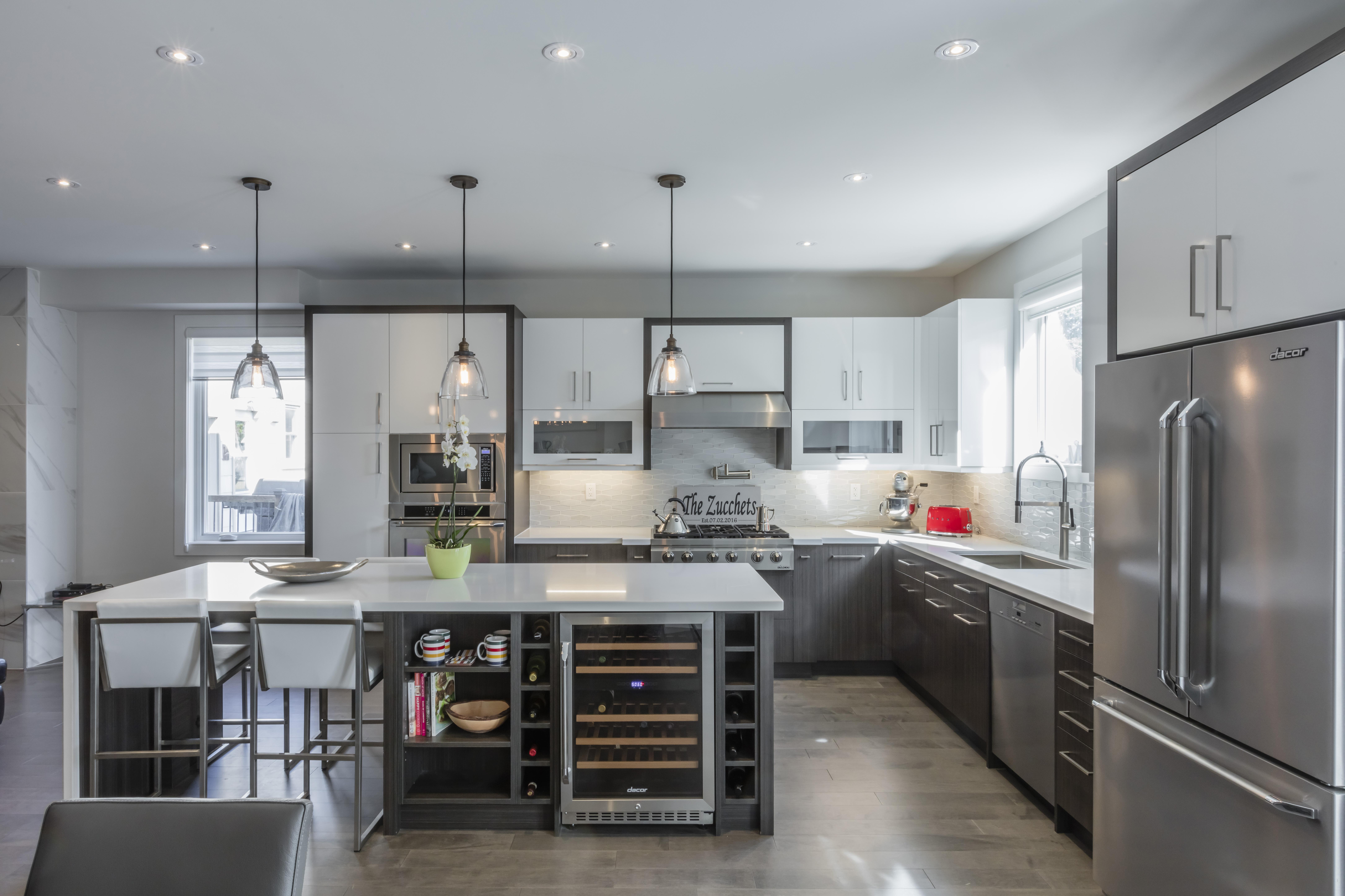 Contemporary Two Tone Kitchen Design | Kitchen Land ...