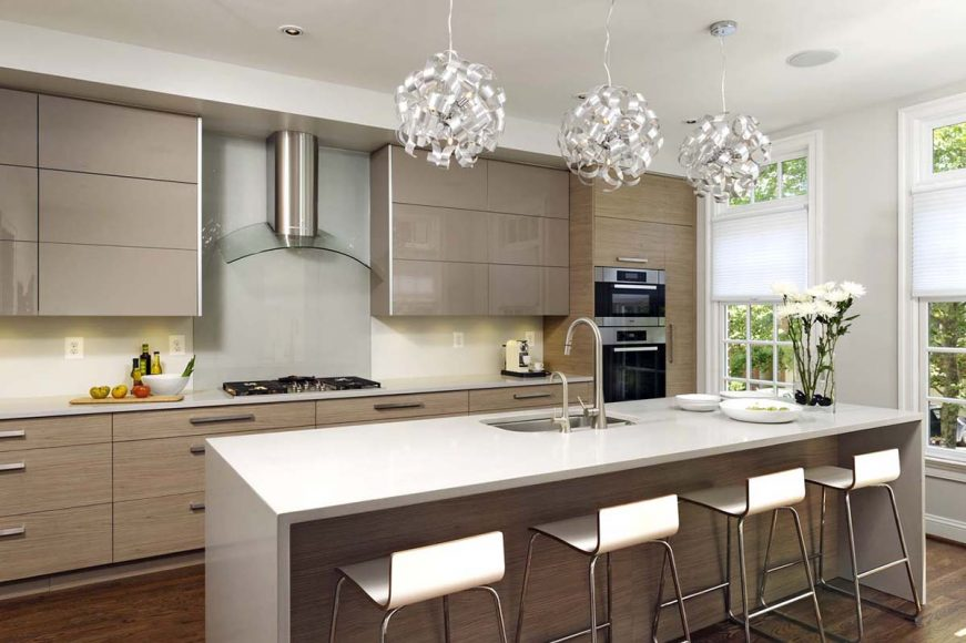 Contemporary Kitchen Design High Gloss Wood Kitchen Land Custom Kitchen Cabinets Kitchen Remodelling Mississauga And Toronto